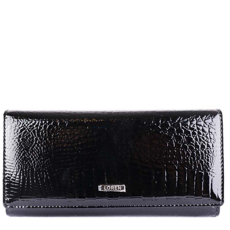 Luxusní kvalitní kožené peněženky Loren černé 64003-RS Black