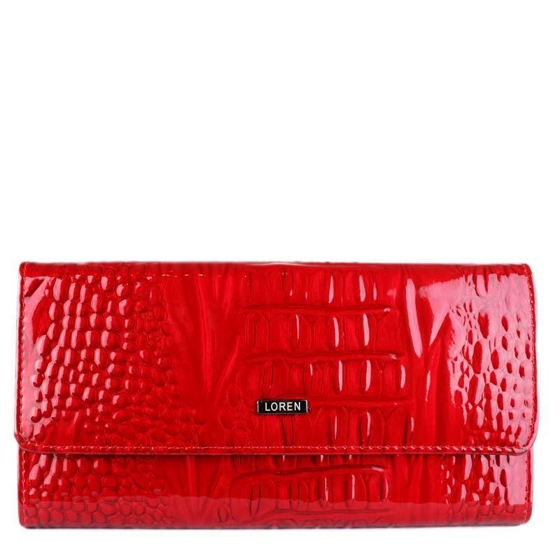 ITALSKÉ Luxurní červené kožené peněženky Loren 74507-RN red