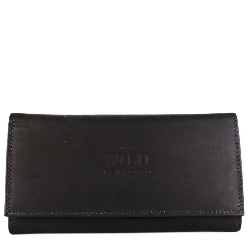 ALWAYS WILD Kožené dámské peněženky levné v černej barvě 438 black