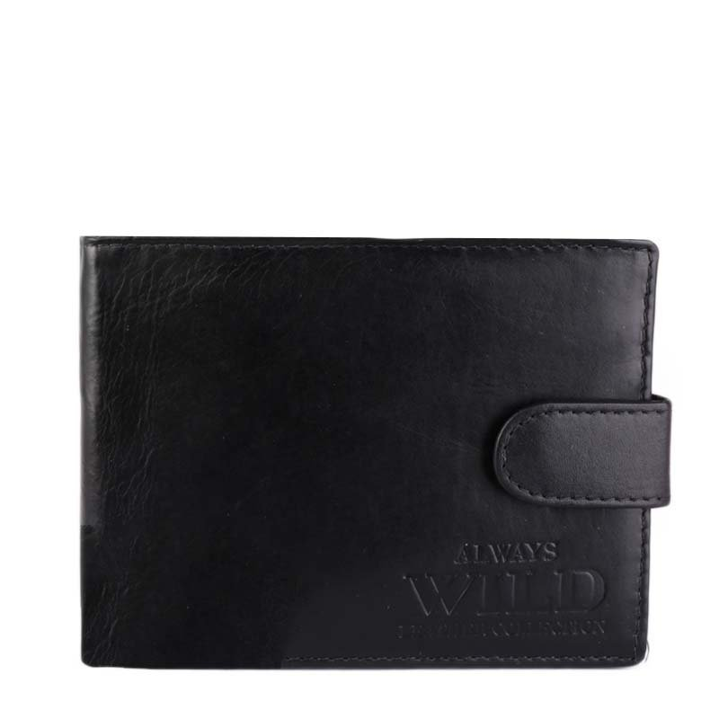 Levné černé pánské kožené peněženky Always Wild N992L-SVT Black