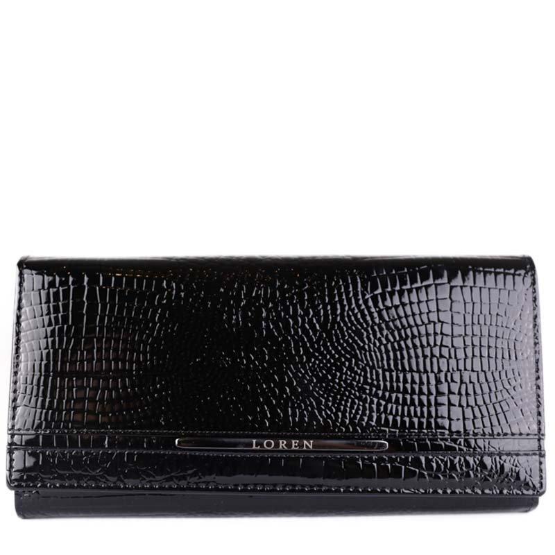 ITALSKÉ Luxusní černé kožené peněženky Loren JP-510-RS Black