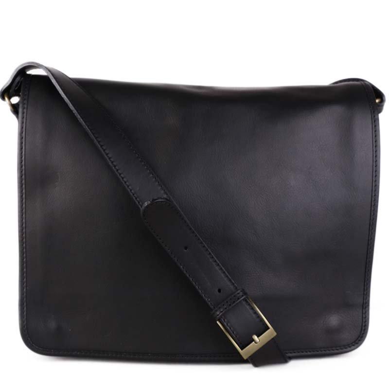 ITALSKÉ Luxusní kožené tašky černé na notebook Vera Pelle Marek