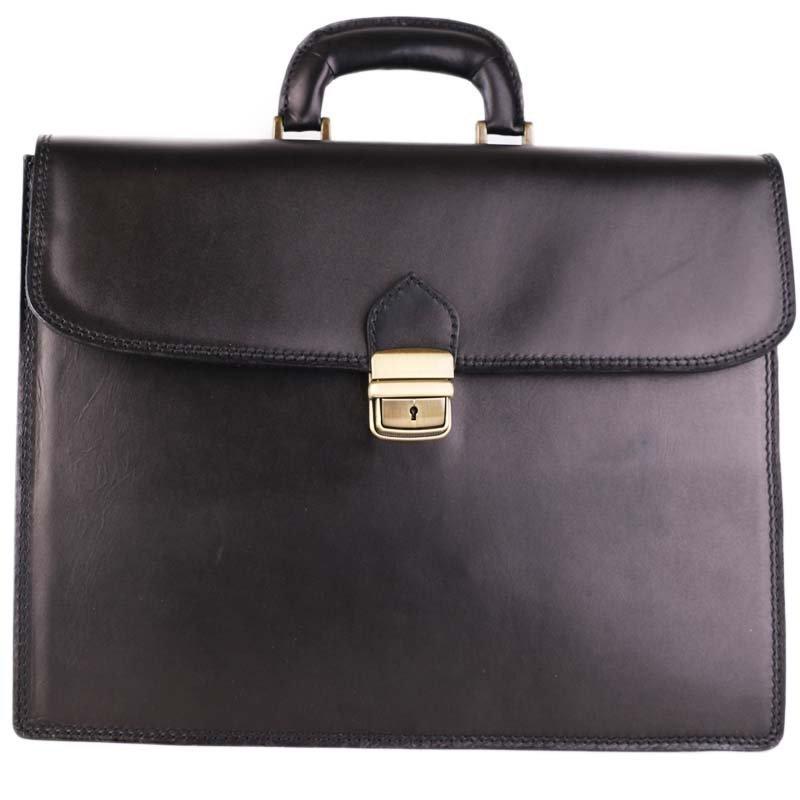 ITALSKÉ Luxusní pánské velké kožené tašky do ruky Vera Pelle černé Boris