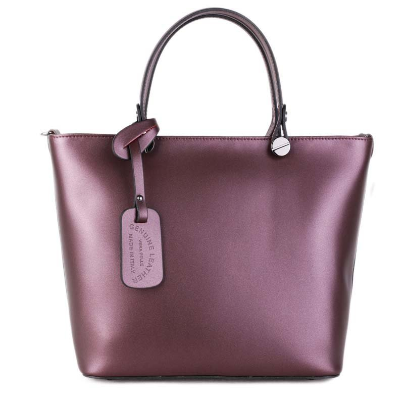 ITALSKÉ Trendové Italské kožené kabelky do ruky královská fialová Merana