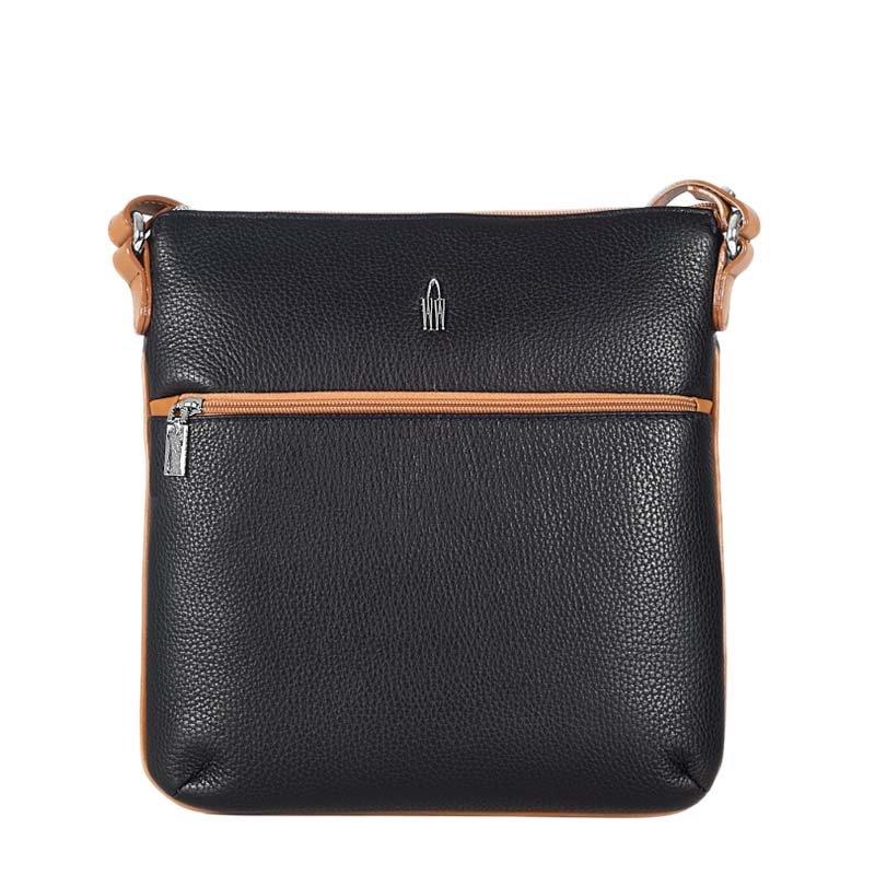 bf40b2e7da WOJEWODZIC Luxusní značkové černé kožené kabelky crossbody 31312 GS01 S18
