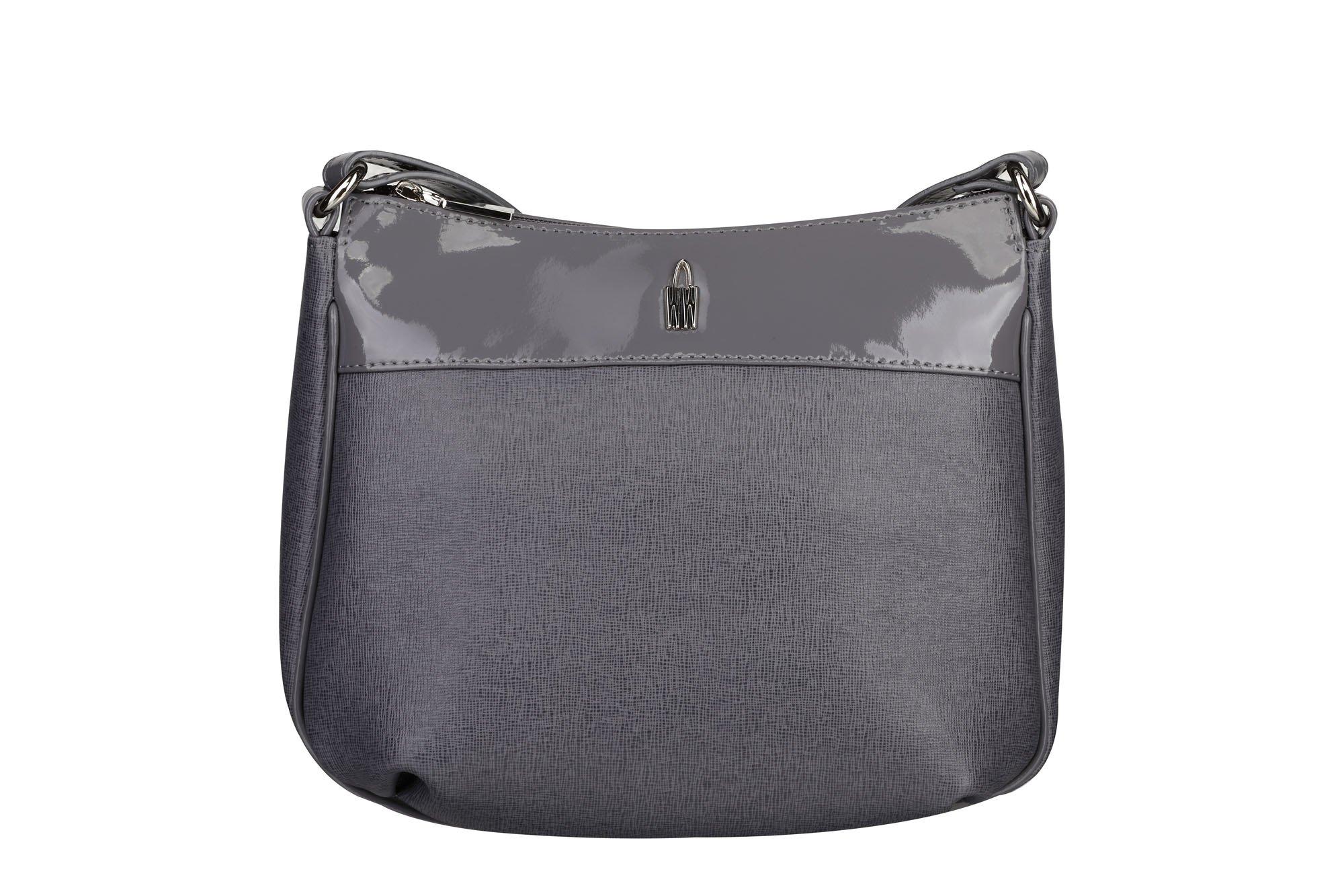 WOJEWODZIC Luxusní značkové kožené crossbody kabelky šedé Izabela 31303/EA23/PL23