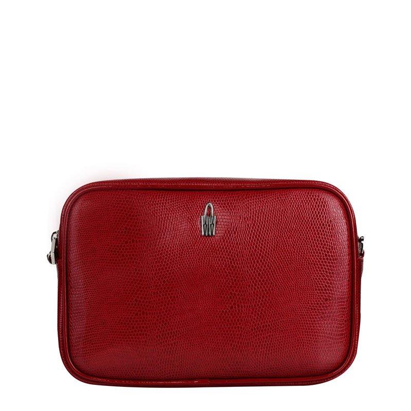 6e0533001c Kožené kabelky crossbody malé Wojewodzic červené Tinka 31747 PC02 PL02