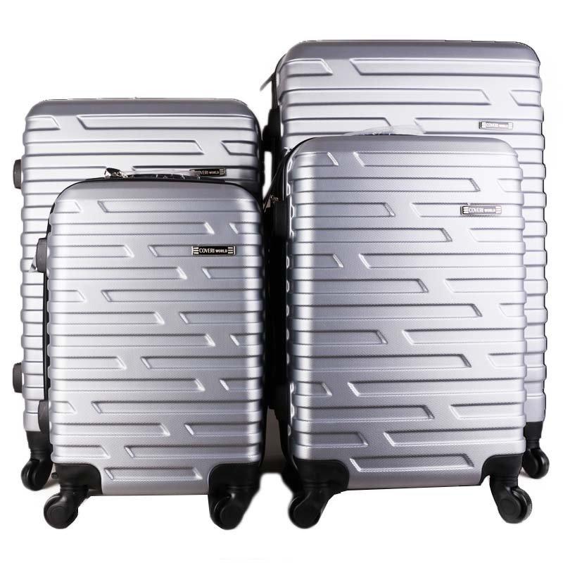 Sicilio cw280 cestovní kufry sada stříbrné 33,45,72,104 litrů