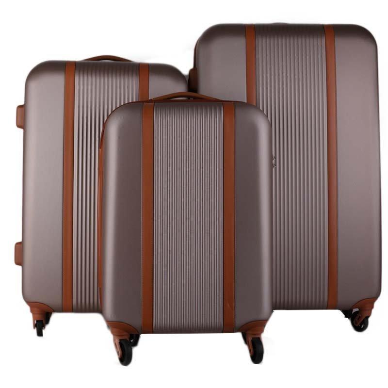 Turíno gold cw555 Itakské Sada cestovních kufrů 3 kusy zlaté 38,67,98 litrů