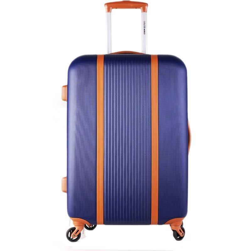 Turíno navy cw555 Velké cestovní kufry na kolečkách levně modré 98l
