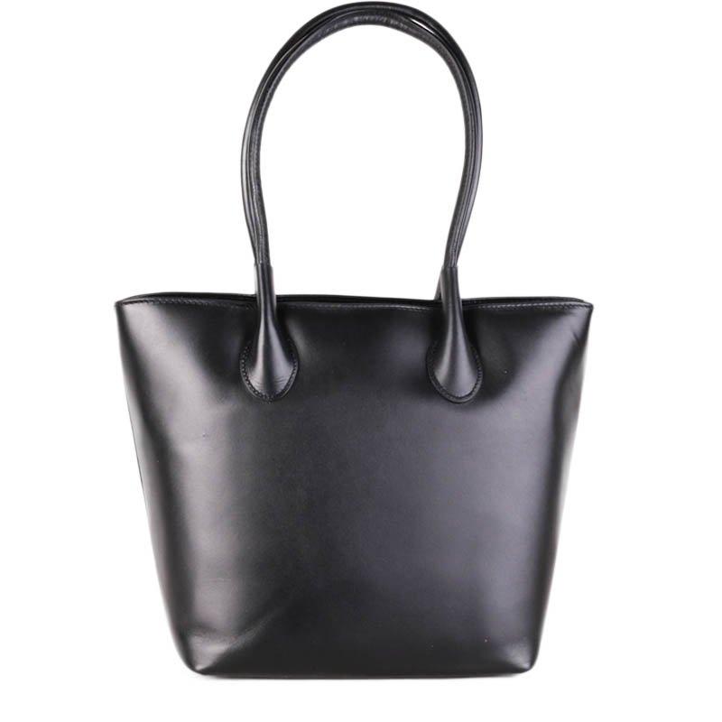 ITALSKÉ Kožené kabelky černé Bagion