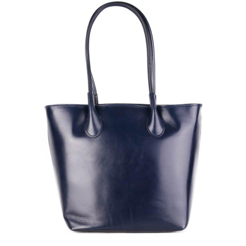 ITALSKÉ Kožené kabelky modré Bagion