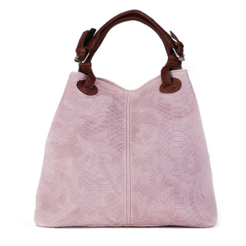 ITALSKÉ Italské levné kožené kabelky Articolo růžové