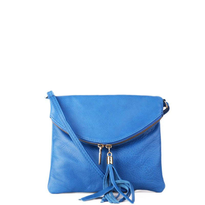 ITALSKÉ Malé modré Italské kožené kabelky levné Korzika