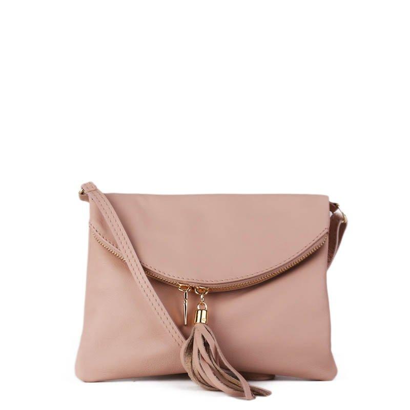 ITALSKÉ Malé italské levné kožené kabelky korzika jemně růžové