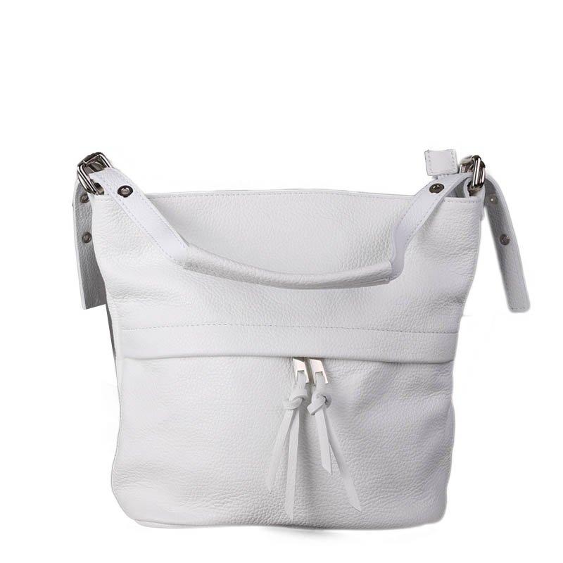 ITALSKÉ Bíle kožené kabelky z Itálie Angola