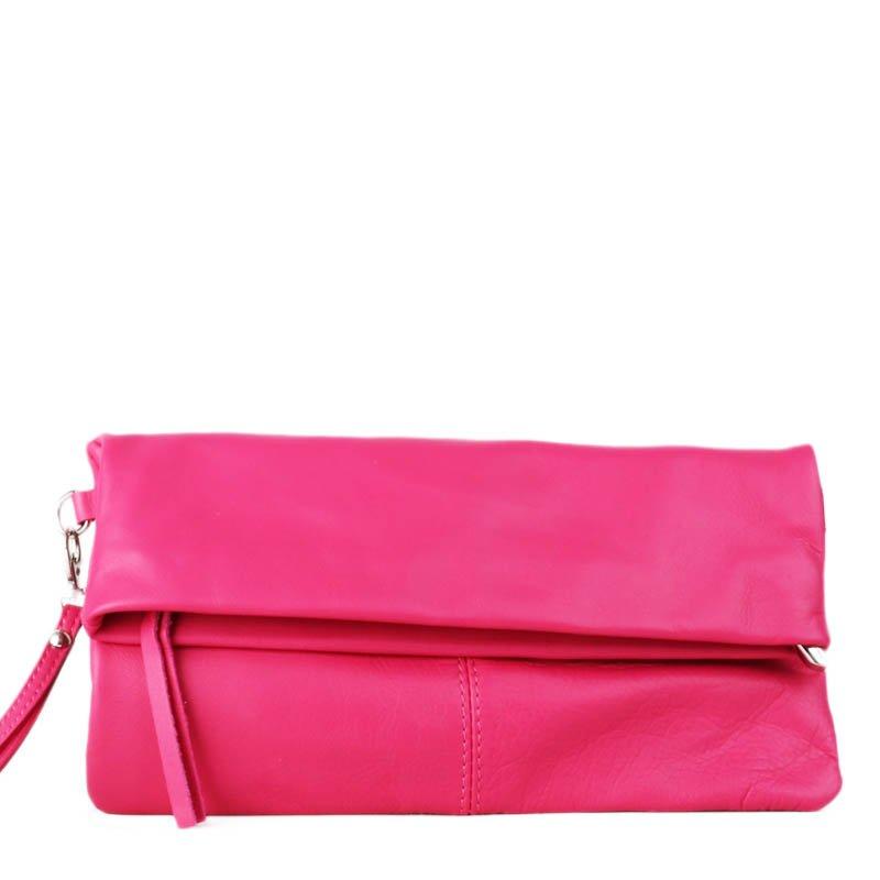 ITALSKÉ Elegantní kožené kabelky růžové Viola