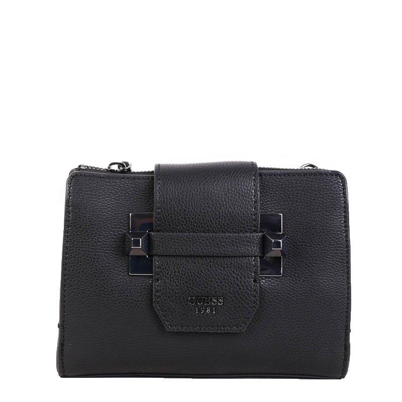 Levné kabelky Guess malé černé VM686114 black