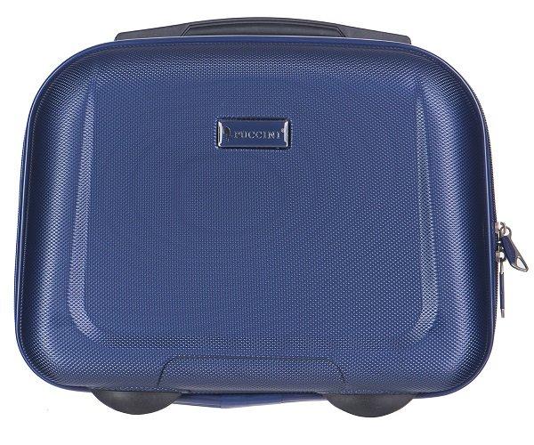 Puccini Pánské palubní kufry kvalitní ABSQM04 7A silně modré 14l