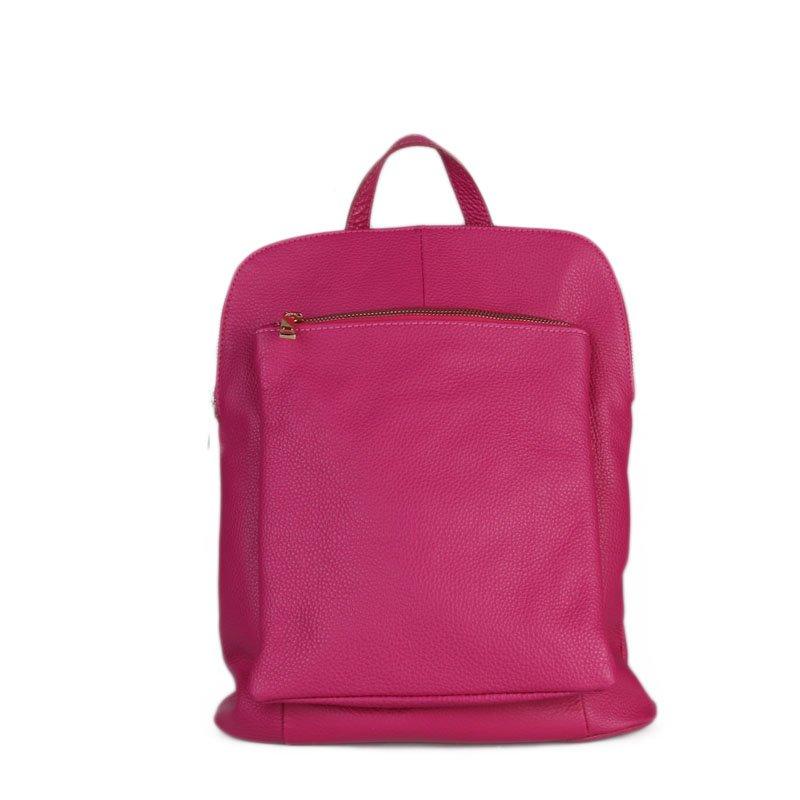b9f5556280b ITALSKÉ Italský silně růžový batoh a kabelka v jednom Navaro