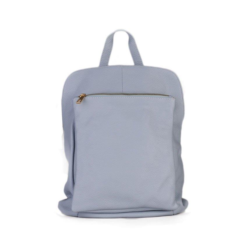 ITALSKÉ Modrý kožený batoh a kabelka v jednom Navaro 8f9bdbb6600
