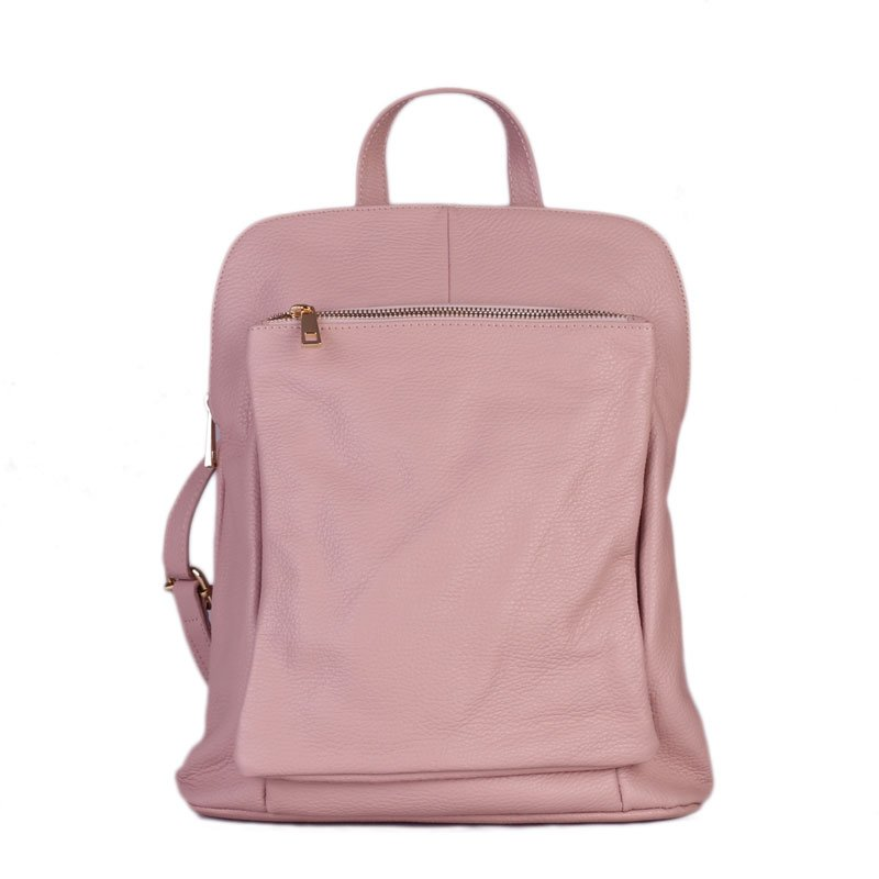 ITALSKÉ Italský jemně růžový batoh a kabelka v jednom Navaro 791e71c1f5