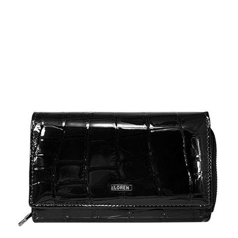 ITALSKÉ Dámské černé kožené peňeženky 57006 Black