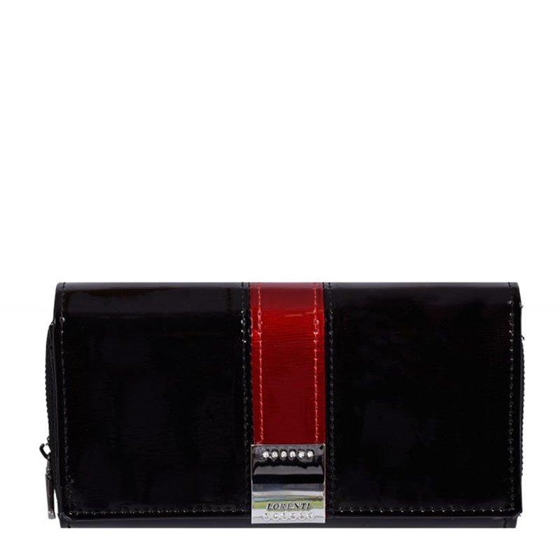 ITALSKÉ Dámské lakované kožené peněženky Lorenti GF112-SH black
