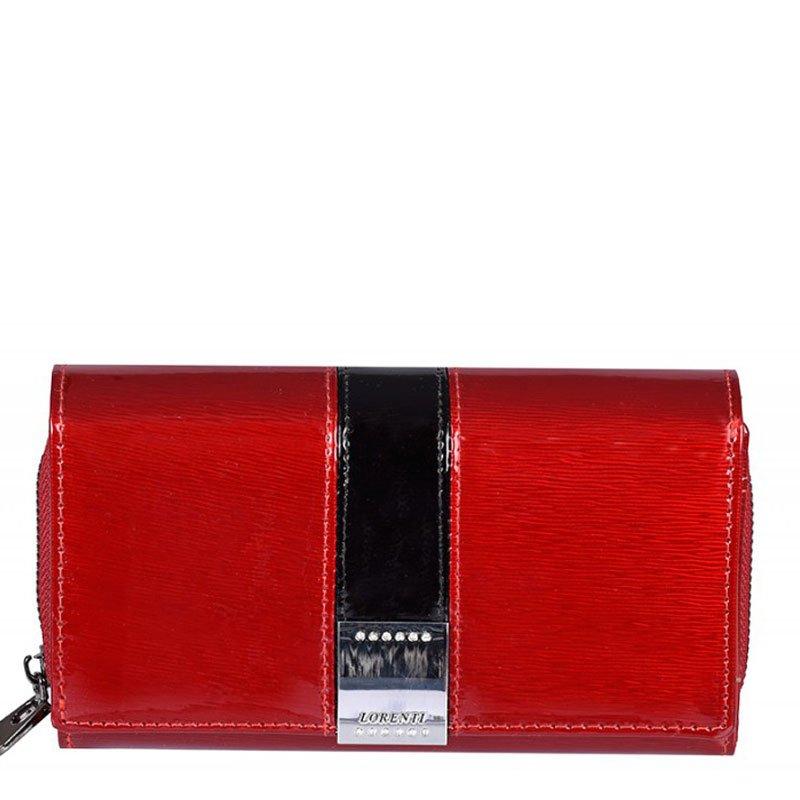 ITALSKÉ Dámské luxusní kožené peněženky GF112-SH red