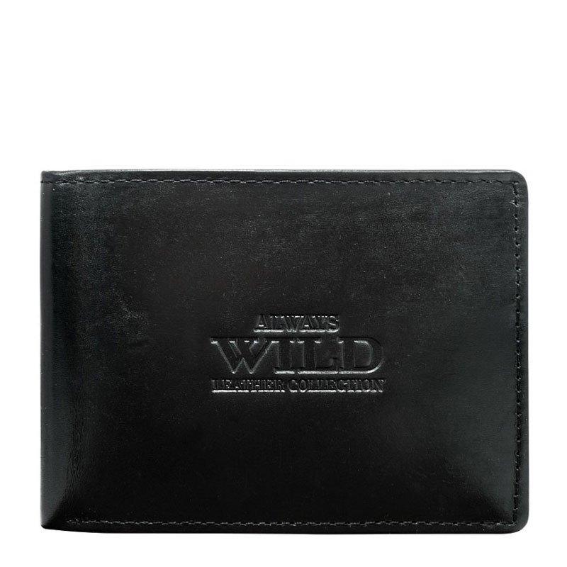 ITALSKÉ Italské pánské kožené peněženky N951-MVT- černá