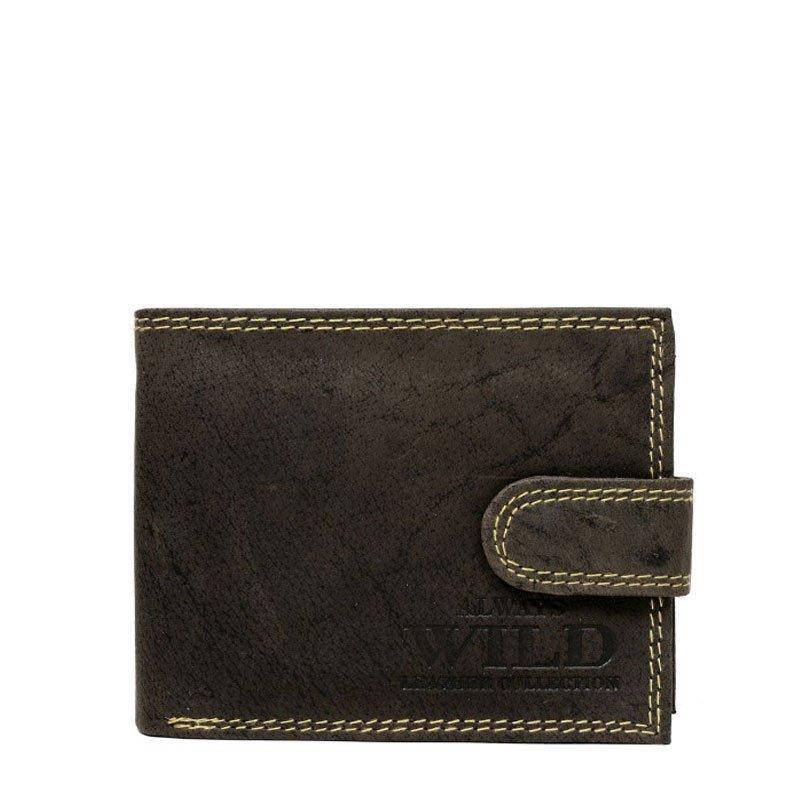 ITALSKÉ Italské pánské kožené peněženky N251L-MH - hnedá