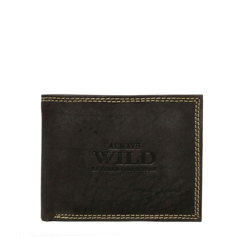 ITALSKÉ Italské pánské kožené peněženky N251-MH - hnedá