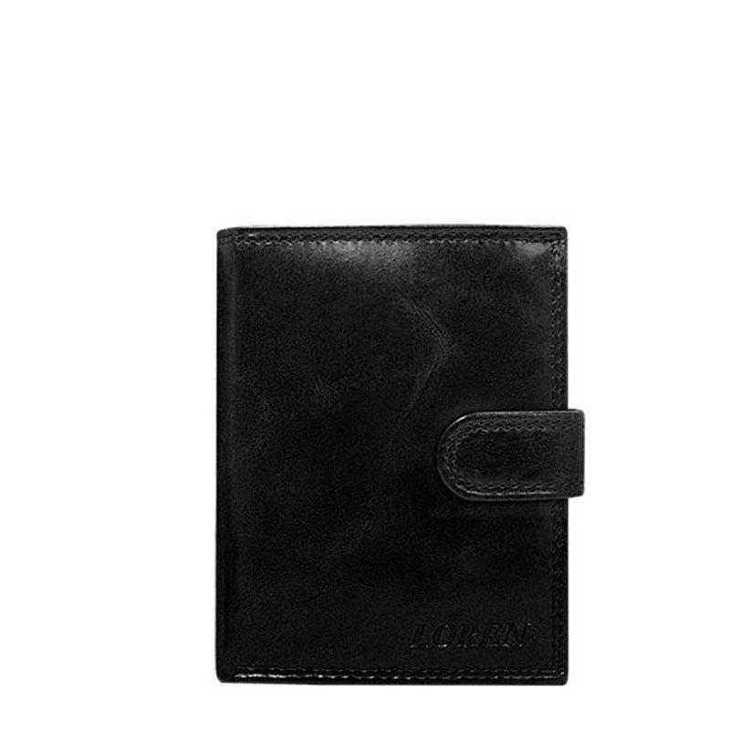 ITALSKÉ Italské pánské kožené peněženky N4L-CL - černá