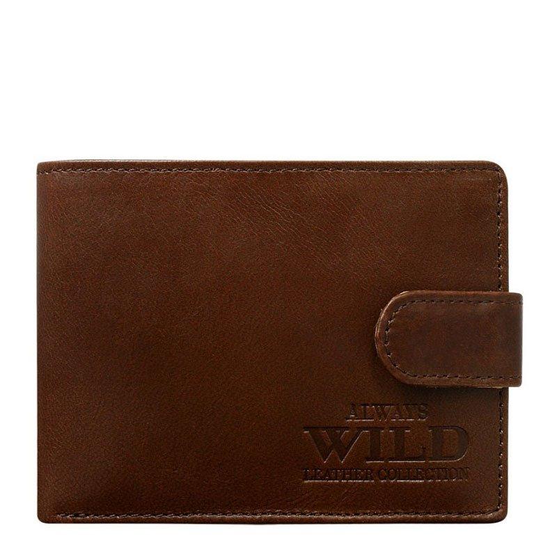 ITALSKÉ Italské pánské kožené peněženky N951L-VTG- hnědá